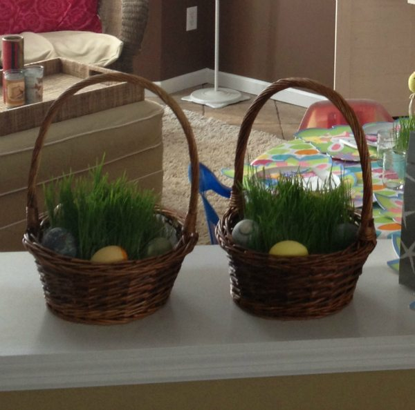 How to choose healthy candy and desserts for Easter and a tutorial on growing your own Easter grass with photos