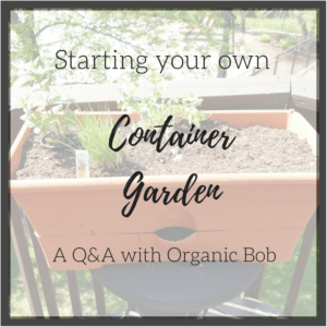 Starting your own Container Garden. A Q&A with Organic Bob