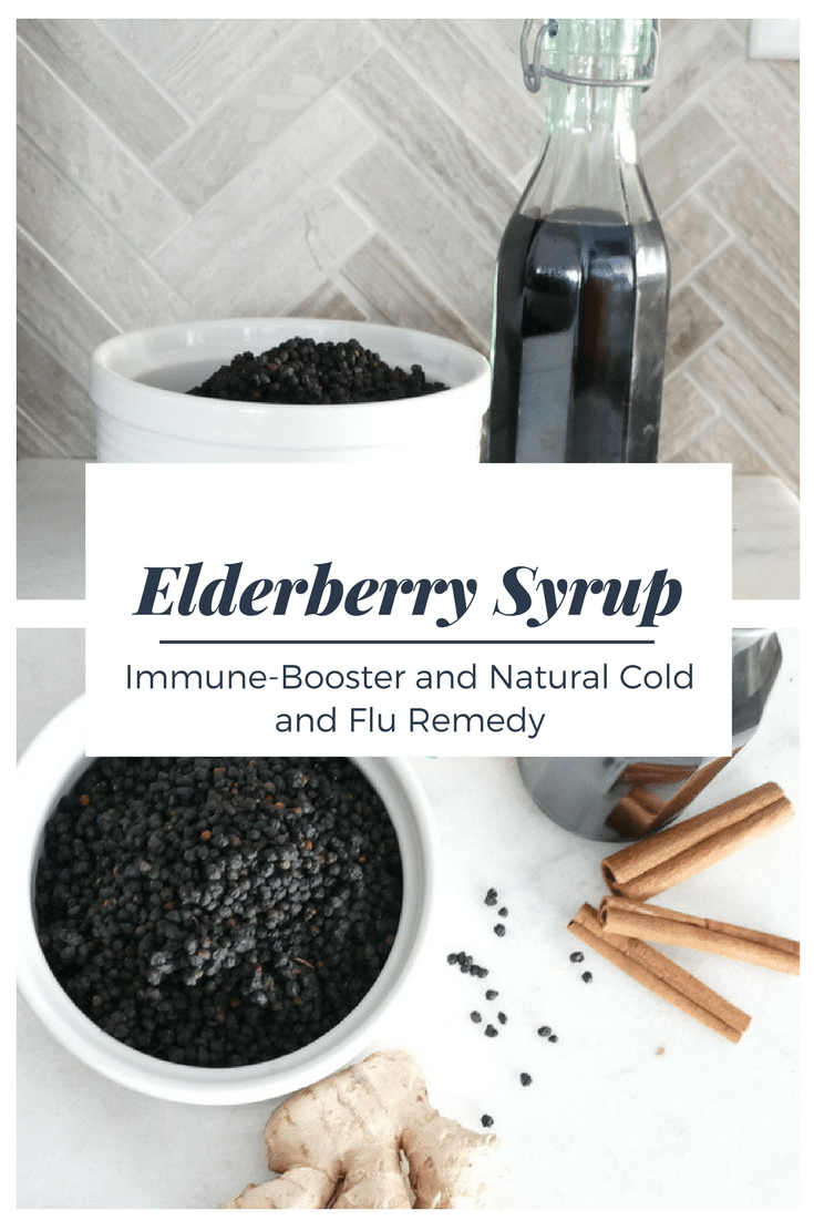 Elderberry Syrup, Immune-Booster and Natural Cold and Flu Remedy