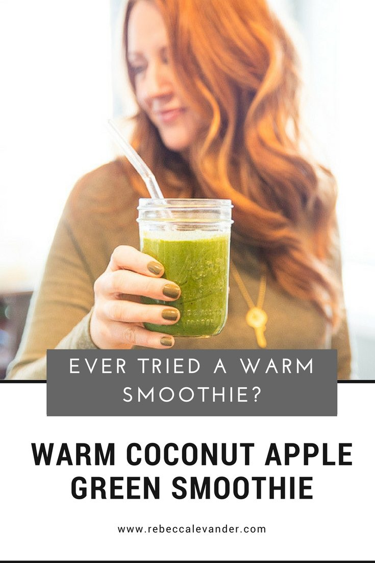 Warm Coconut Apple Green Smoothie